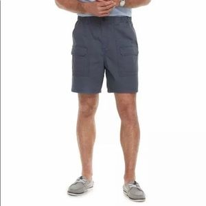 Charcoal gray men's cargo shorts